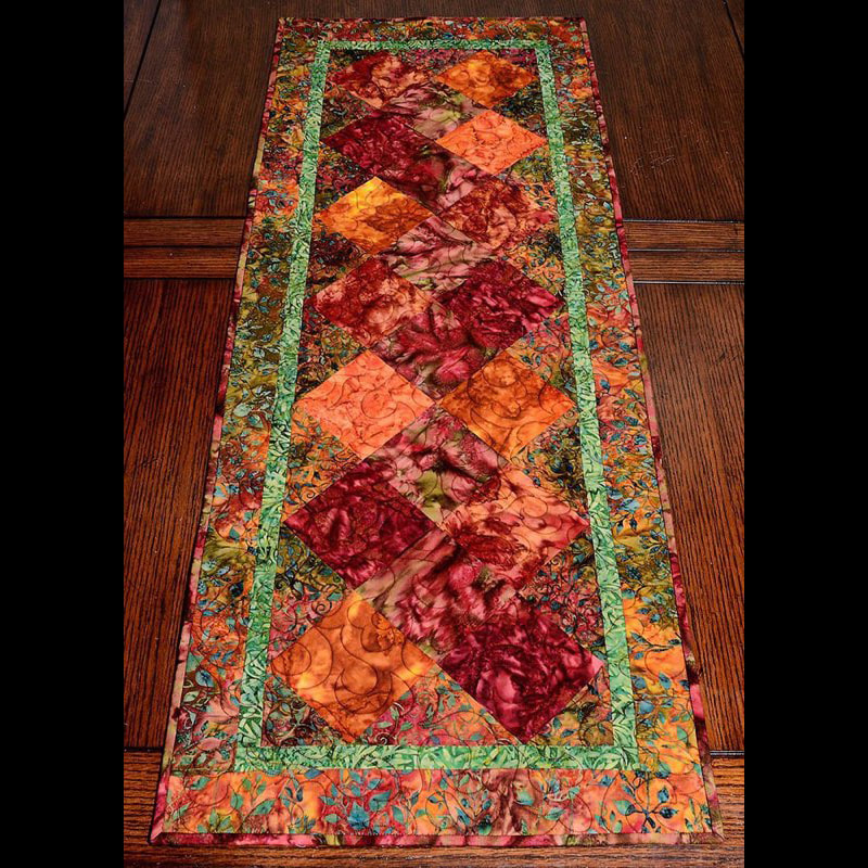 Batik table runner 36