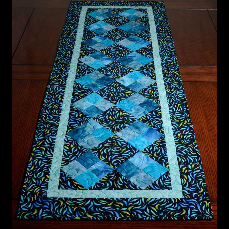 Batik Table Runner Blue
